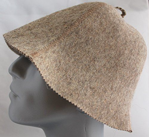 Sauna Hat Simple Brown Unisex Thick 25 mm Wool *** Click the VISIT button to enter the Amazon website