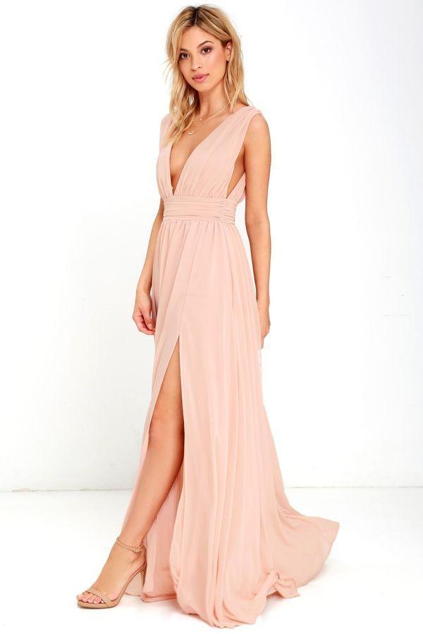 401acceb05da NWT Lulus Heavenly Hues Blush Bridesmaid Dress - Medium M Evening  Formal#Hues#Blush#Heavenly
