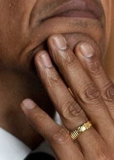 Obama's ring: 'There is no god but Allah' But he removes it and his watch for the month of Ramadan as Muslims are forbidden to wear jewelry then.