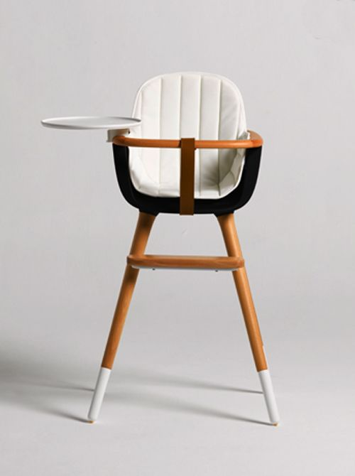 This is so much better than a clunky plastic one. Mid Century Modern Baby Furniture: The Ovo High Chair by Micuna