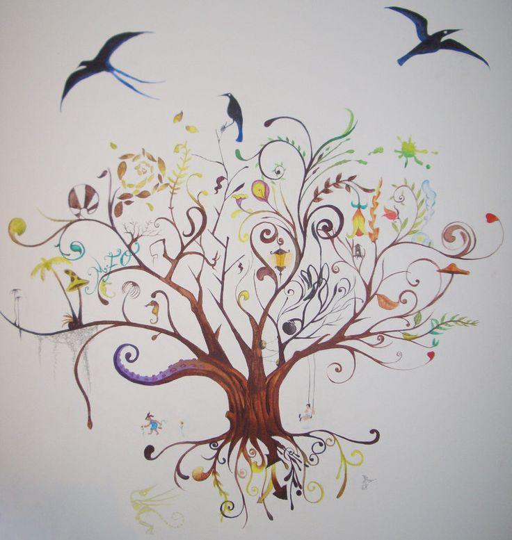 The tree of life and death by Irrelevantart.deviantart.com on @deviantART
