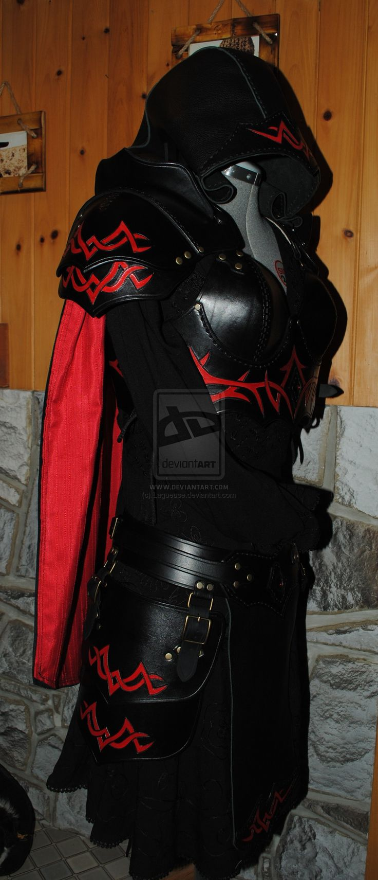 women leather light armor by Lagueuse.deviantart.com on @DeviantArt