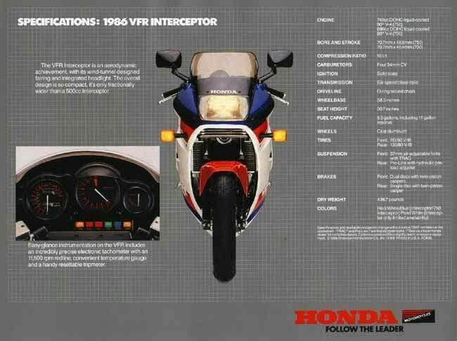 Honda vfr 750 Interceptor 1986