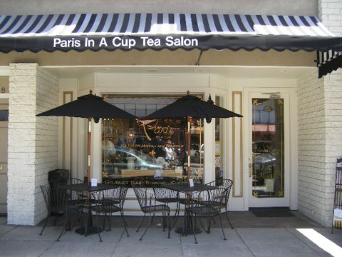 Paris in a Cup tearoom--Orange, CA. This is an awesome tea room.  The presentation is beautiful