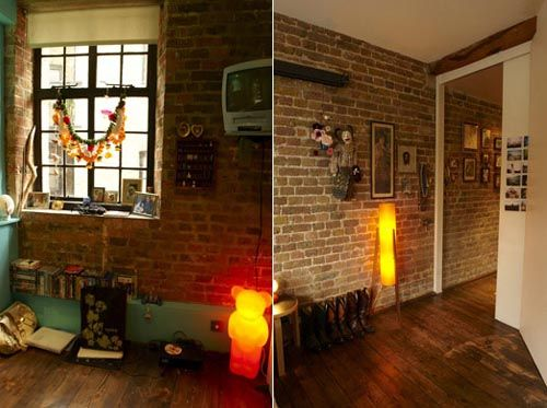 Creating an urban atmosphere with Interior Brick Veneer  Find this Pin and  more on tiny New York apartment  33 best tiny New York apartment images on Pinterest   Live  . Exposed Brick Studio Apartment New York. Home Design Ideas