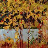 James Edward Hervey MacDonald, Mountain Ash, Lac Algoma, entre 1918 et 1920, huile sur panneau.