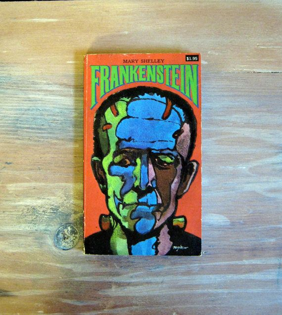Frankenstein by Mary Shelley Collier 1978 by NaturalVintage, sold