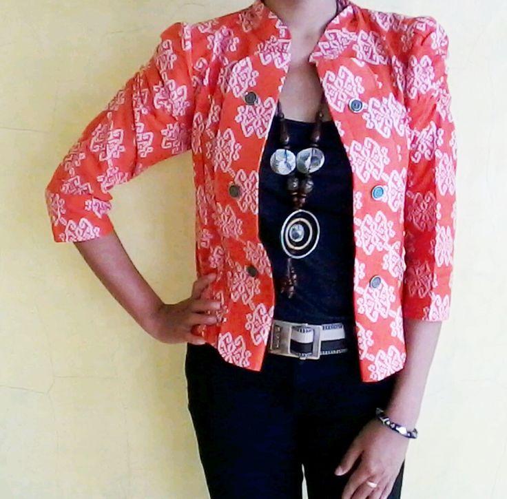 baju batik kerja wanita - women's jacket