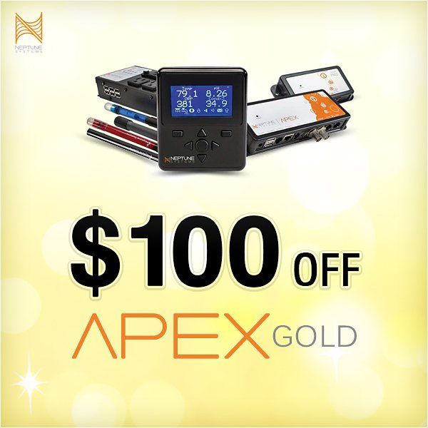 Rare deals from Neptune for a limited time. Head over to our website for $100 off Apex Gold #marinedepot #happyreefkeeping #apex #neptunesystems @neptunesystems