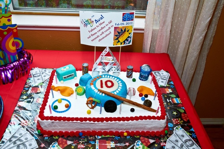 A Minute To Win It Birthday Cake Cake Ideas Minute To