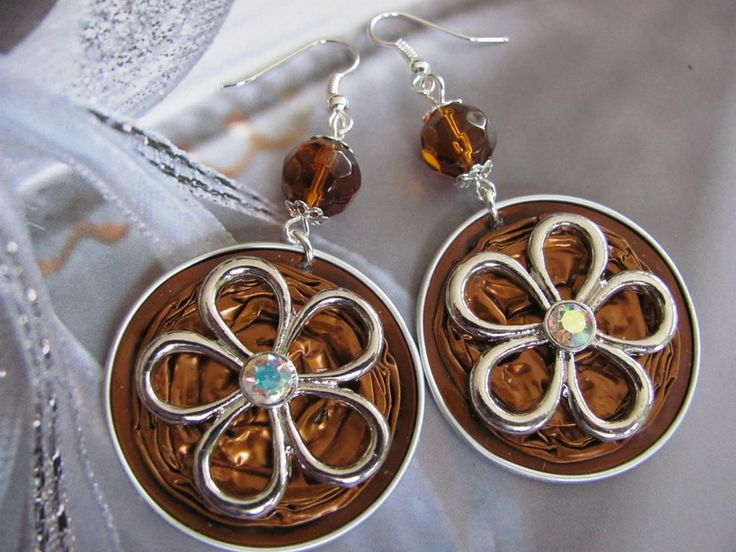 Ohrringe aus Nespresso Kapseln von angelila auf DaWanda.com