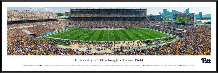 Pittsburgh Panthers Football Panoramic Picture - Heinz Field - Standard Frame $99.95