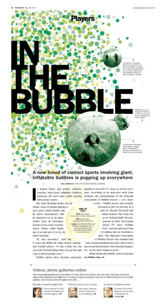 In the Bubble #Newspaper #Design #Layout