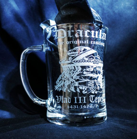 Hey, I found this really awesome Etsy listing at https://www.etsy.com/listing/223035625/etched-beer-mug-engraved-beer-mugdracula