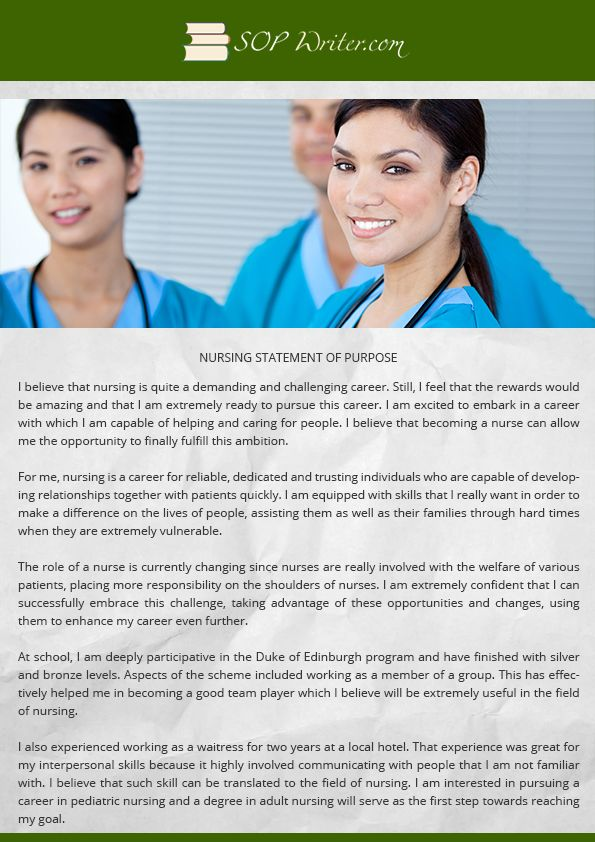 nursing statement of purpose writing service
