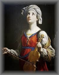"November 22nd - St. Cecilia: Patroness of musicians. It is written that as the musicians played at her wedding she ""sang in her heart to the Lord"".  Her feast day is celebrated in the Latin Catholic, Eastern Catholic, Anglican, and Eastern Orthodox churches on November 22. She is one of seven women, excluding the Blessed Virgin, commemorated by name in the Canon of the Mass."