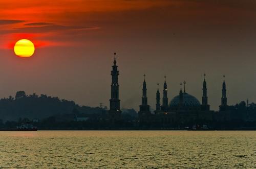 Sunset over Mahakam river, Samarinda - lived here few several years