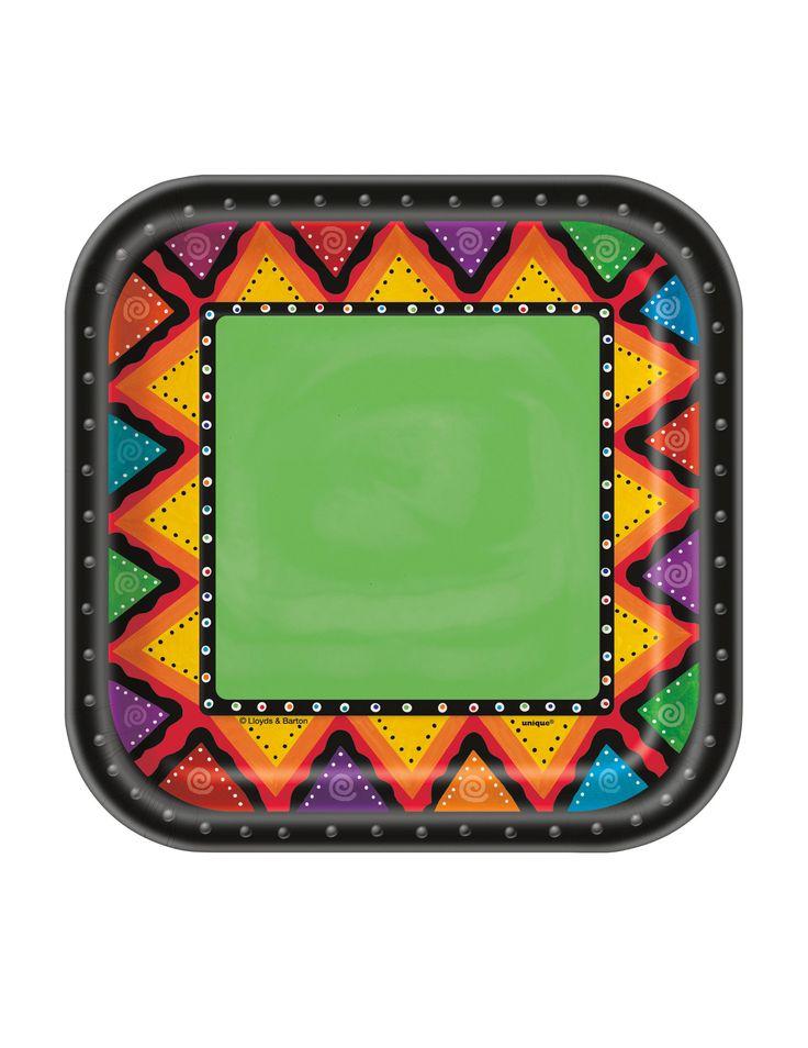 10 piattini a tema Messico 17.5 cm su VegaooParty, negozio di articoli per feste. Scopri il maggior catalogo di addobbi e decorazioni per feste del web,  sempre al miglior prezzo!