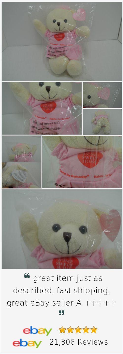 "Habitat For Humanity Hope Teddy Bear Plush Pink Dress Bean Bag 11"" NEW http://stores.ebay.com/Lost-Loves-Toy-Chest"