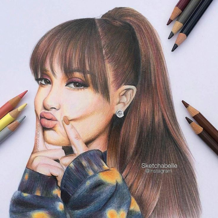 Pin by Krysanthemum on Colorful Portraits Ariana grande