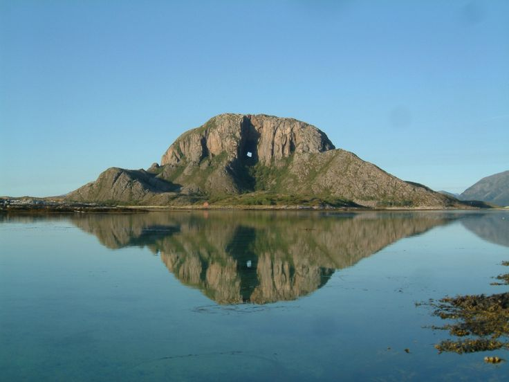 The Torghatten mountain is situated on the island of ...