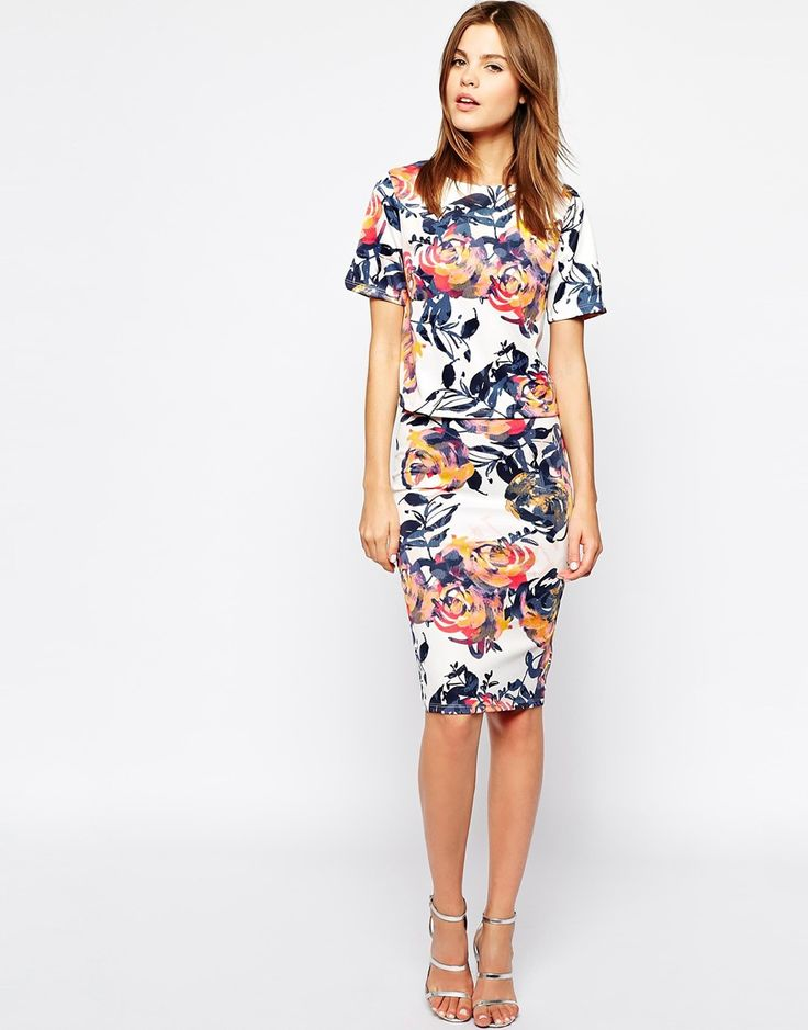 Image 4 of Warehouse Floral Brushstroke Co-Ord Top