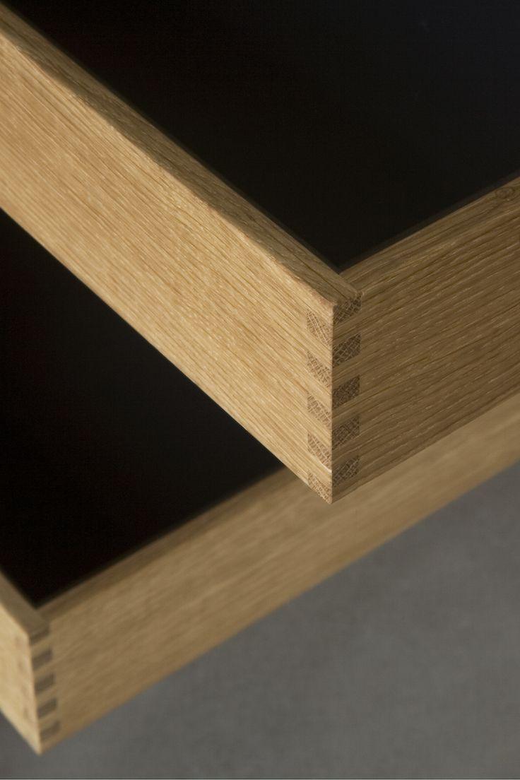 Finger-jointed oakwood drawers. Handmade by NicolajBo™, Copenhagen, Denmark