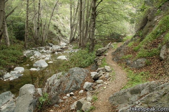 Fish Canyon Trail - one of many beautiful hiking trails in the San Gabriel Mountains