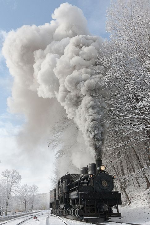 .A steam engine in cold air is just beautiful!