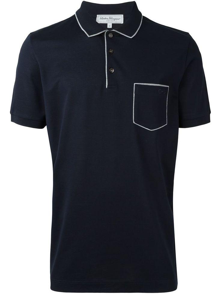Salvatore Ferragamo Camisa polo com bolso