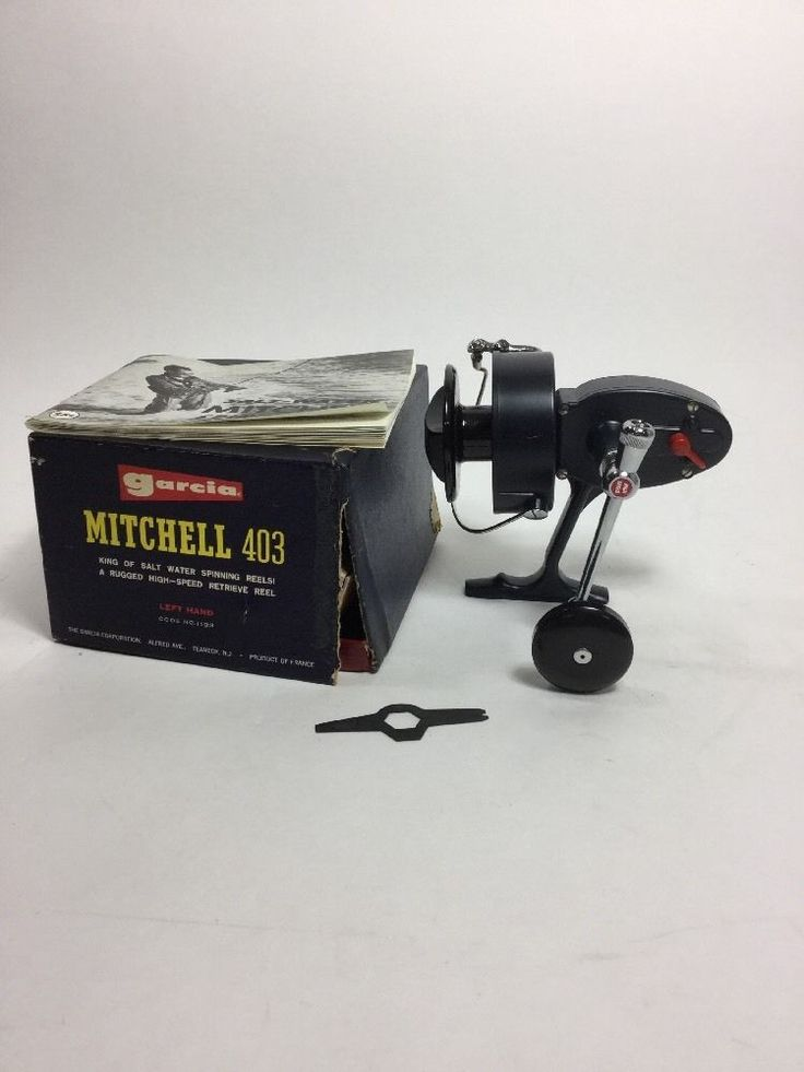 Garcia Mitchell 403 High Speed Lefthanded Spinning Fishing Reel