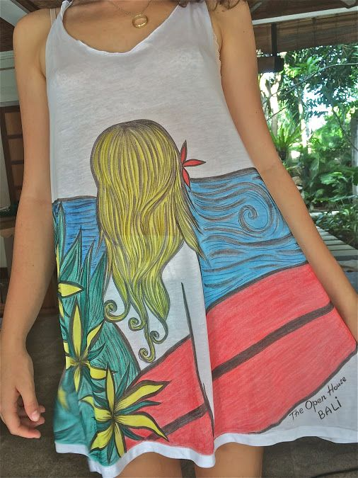 The Open House Bali - Google+ Hand painted eco shirts made for The Open House Bali specially.