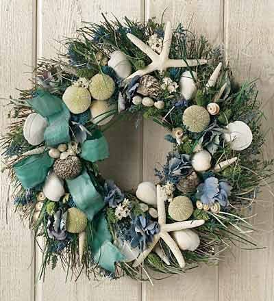 #wreath #starfish #nautical #beachy: