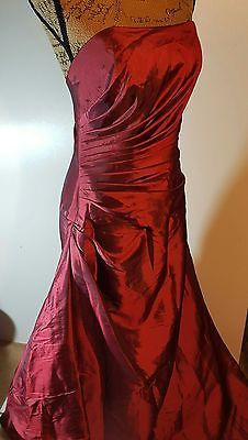 Impression Light Wine colored Formal Strapless Dress Prom Size 14