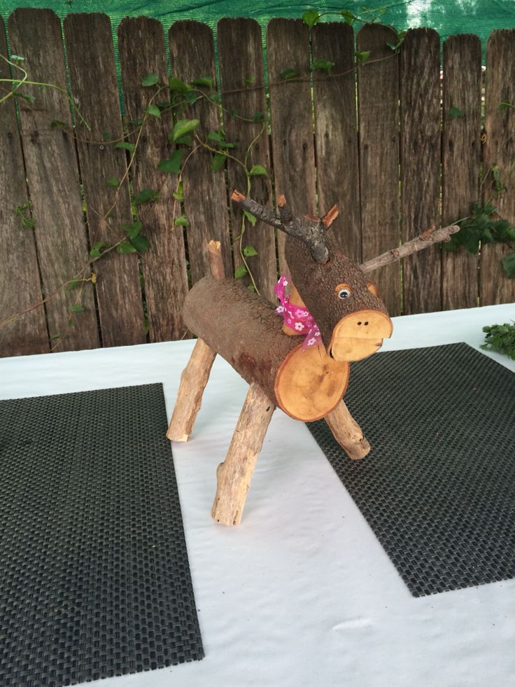 Bill made these gorgeous little reindeers