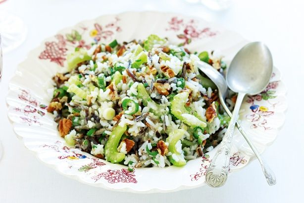 Wild rice and pecan salad. Make this side dish a part of your relaxing, flavour-filled Christmas banquet that the whole family will enjoy.