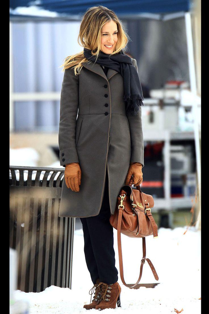 Trucos de estilismo de celebrities para llevar accesorios de invierno: Sarah Jessica Parker
