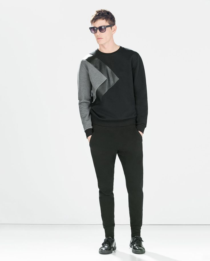 ZARA - MAN - BASIC PIQUE TROUSERS