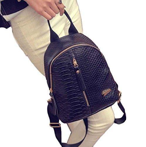 Oferta: 6.99€. Comprar Ofertas de mochilas mujer Sannysis mujeres Bolsos de cuero con Cremallera (001, negro) barato. ¡Mira las ofertas!