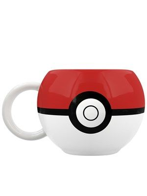 You wouldn't catch too many weedles or bulbasaurs in here but I bet you could get quite a few custard creams in! Shaped to look like the pokeball, this wicked 3D mug from Pokemon is a must have for any aspiring trainer. Official merchandise.