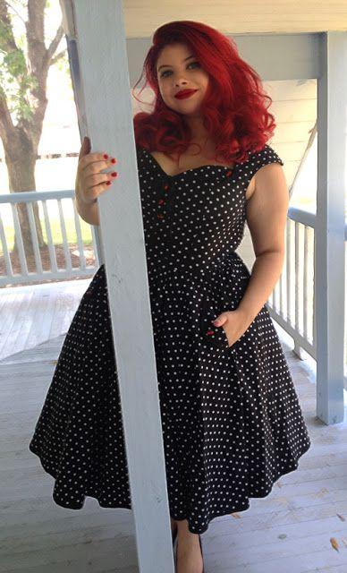 BlueBerryHillFashions: Rockabilly Black polka Dot Cutie JUST ARRIVED. SO DARLING! xs to 4x
