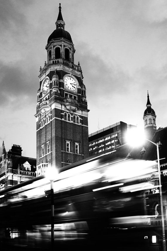 Croydon Clocktower  Black and White Photograph  by randallmurrow