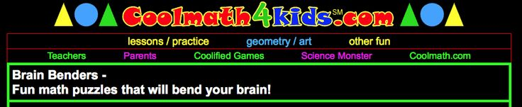 Cool Math 4 Kids--Brainbenders