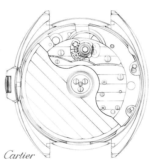 Dessin rouages illustration engrenage dessin montre Florence Gendre montre Clé de Cartier