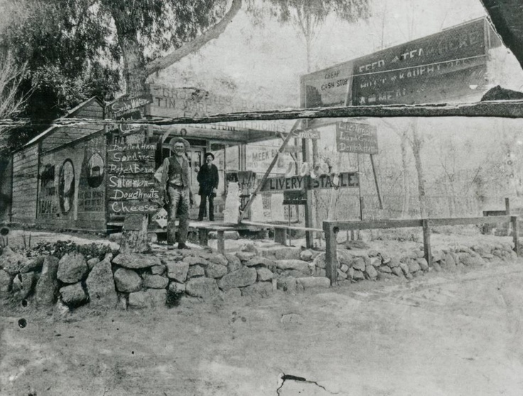 "The first store in Simi Valley, operated by ""Honest John"" Sawtelle opened in 1888 at the corner of Los Angeles Avenue and Third Street. He advertised ""a square meal for 20 cents."""