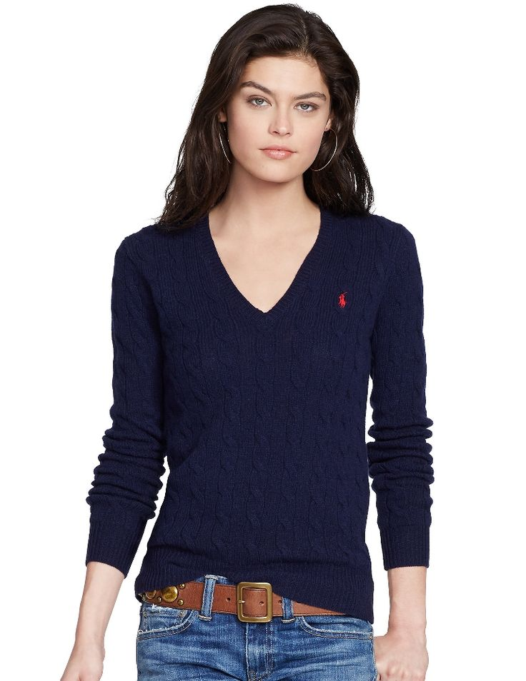 polo-ralph-lauren-blue-cable-knit-v-neck-sweater-