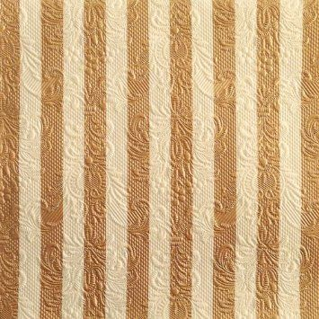 Luxury Ambiente Elegance Striped Napkins - Bronze/Cream: Amazon.co.uk: Kitchen & Home