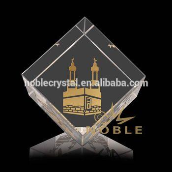 Golden Engraved Crystal Tile Cube As Islamic Wedding Favor  Buy Crystal  CubeEngraved Crystal CubeIslamic Crystal Wedding Favor Product on  Alibabacom