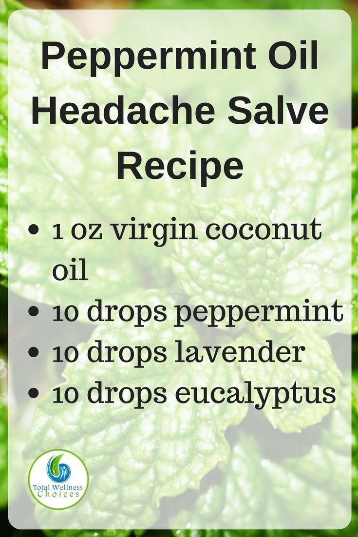 Make your own peppermint oil headache relief salve with this simple diy essential oil headache recipe!