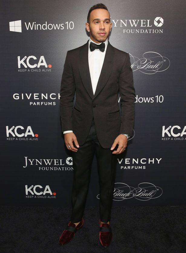 "Lewis Hamilton attends 2015 ""Keep A Child Alive"" Black Ball at Hammerstein Ballroom on November 5, 2015 in New York City"